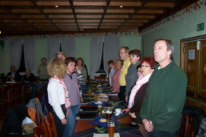 14.12.2006: Weihnachtsfeier gemischter Chor
