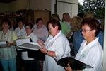 12.7.2007: Letzte Singstunde vor der Sommerpause bei Konrad Kolb