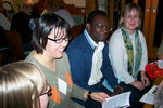 18.10.2007: Gespräch  mit Olivier Mawanzi zum musikalischen Brunch Griesheim hilft Afrika