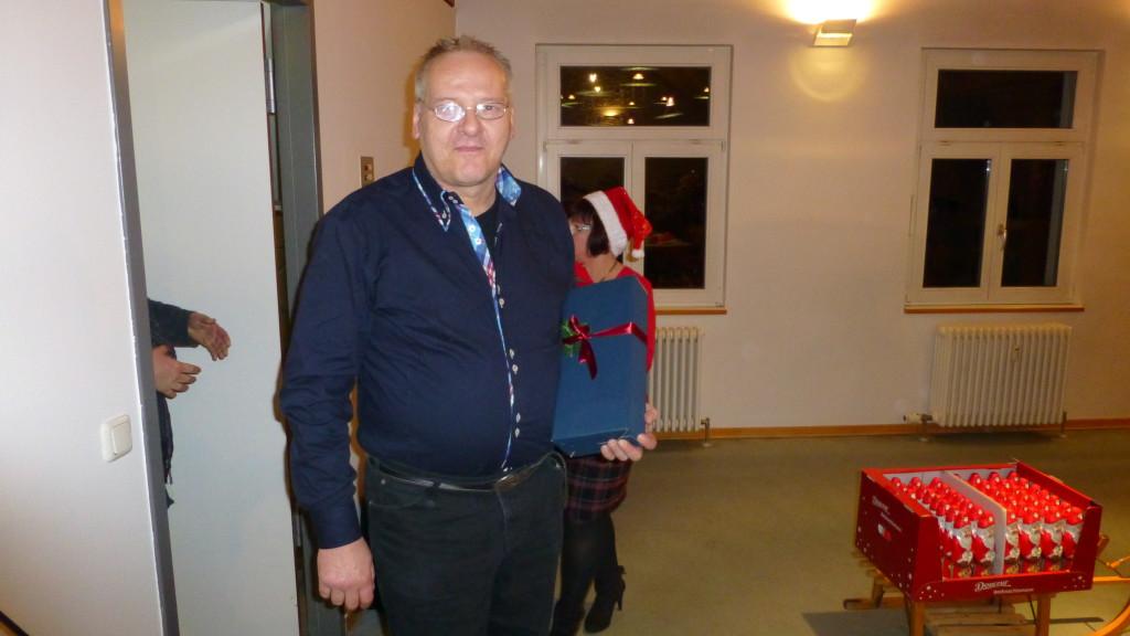 Unser Notenwart Klaus Färber freut sich auch